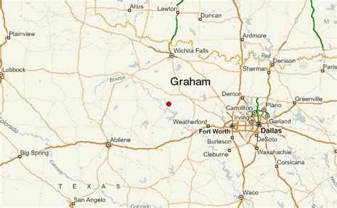 graham texas map county texas map