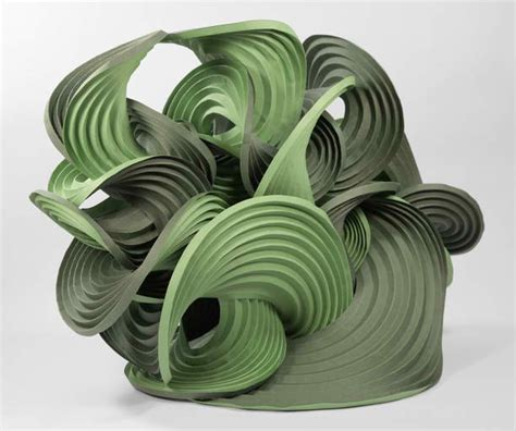 Self Folding Paper - curved crease sculptures self folding origami
