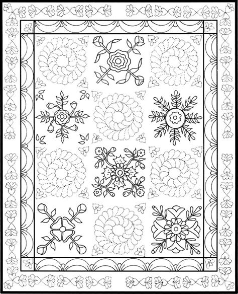 Coloring Page Quilt by Welcome To Dover Publications