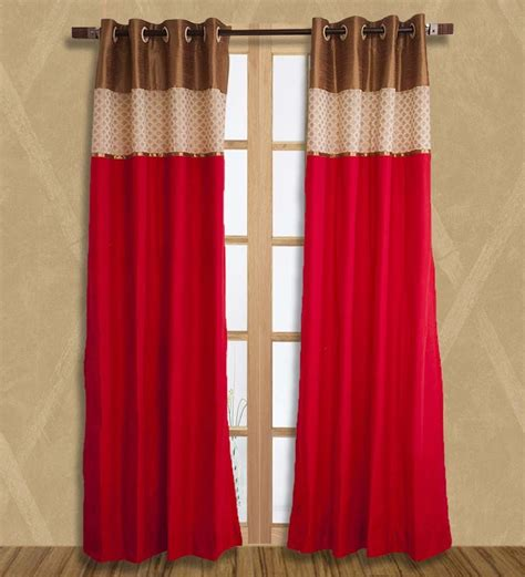 pepperfry curtains kiwaad fuchsia silk curtain by kiwaad online solids
