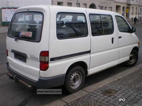Toyota Hiace Seating Capacity 1999 Toyota Hiace 9 Seats Car Photo And Specs