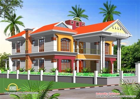 double storey house plans designs double story house elevation kerala home design and floor plans