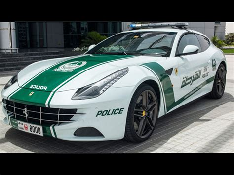 police ferrari enzo dubai police officially unveil ferrari ff cop car drive