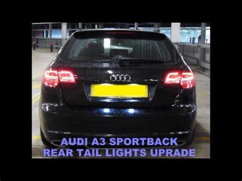 audi a3 rear light removal audi a3 sportback led rear l retrofit upgrade