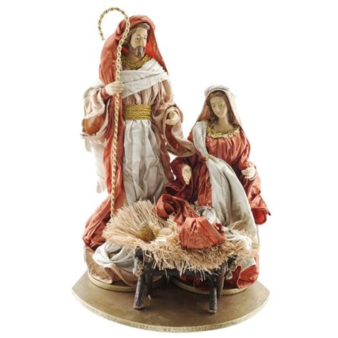 holy family fabric mache figure 13 quot the catholic company