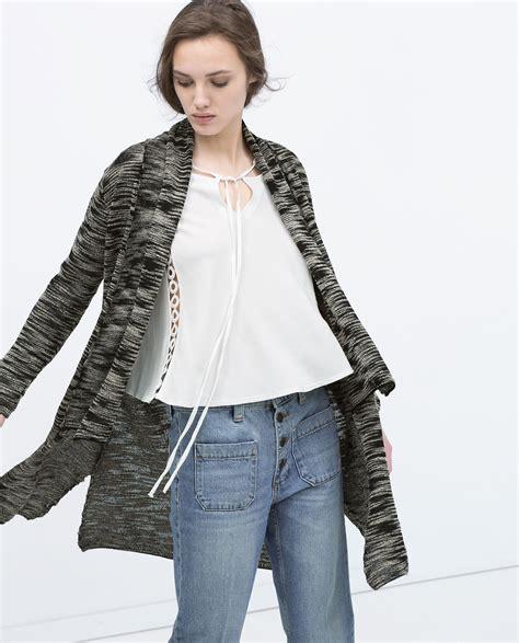 Zara Cardigan 1 zara cardigan with pockets in gray only one lyst