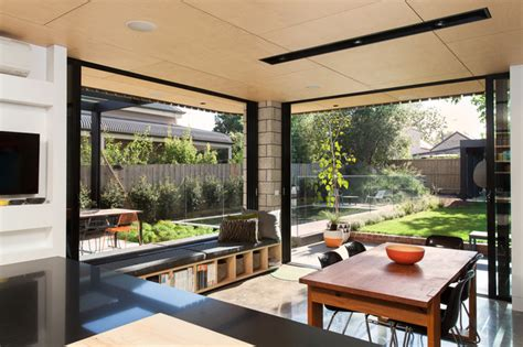 relaxing outdoor space of a house on balaclava road balaclava house contemporary dining room melbourne