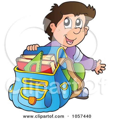 Royalty Free Rf Clipart Illustration Of A Friendly Back