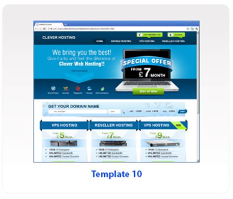 web hosting template free exclusive reseller web hosting templates