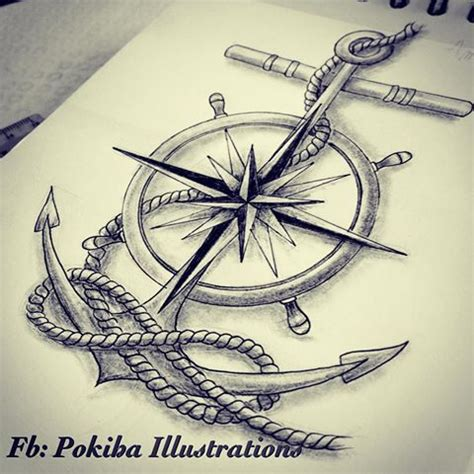 compass and anchor tattoo designs 25 best ideas about nautical compass on