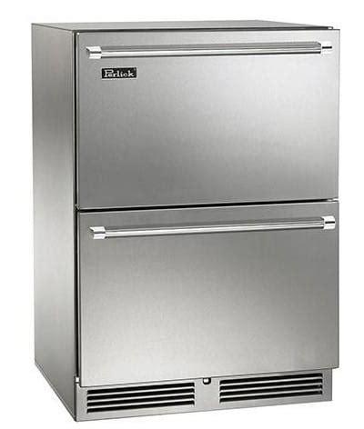 undercounter refrigerator drawers panel ready perlick hp24zs36 24 inch undercounter freezer refrigerator