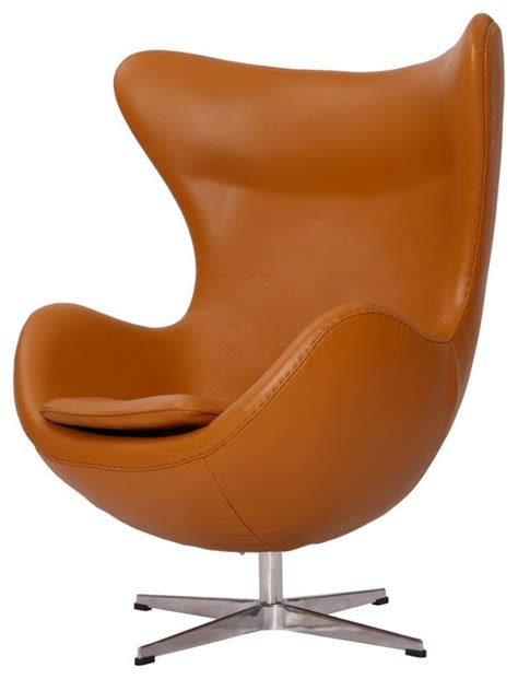 light brown leather accent chair modern egg chair midcentury armchairs and accent