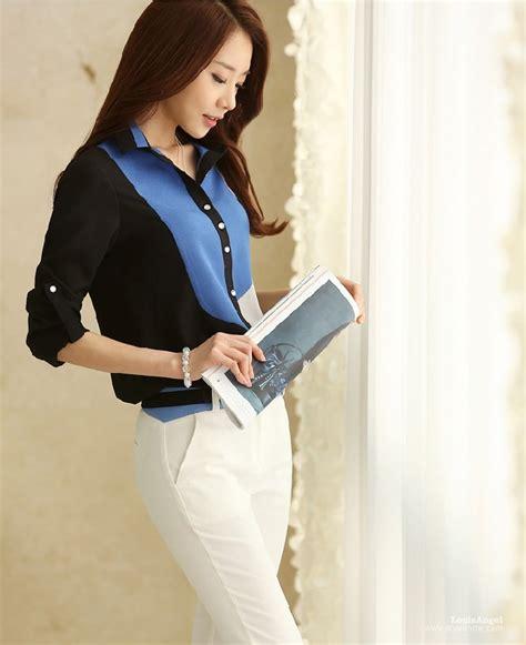 Grosir Baju Blouse My My Style Bl kemeja wanita import bl3107 blue tamochi