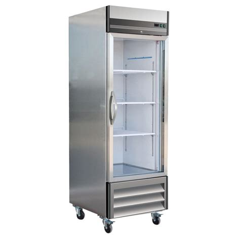 Glass Door Commercial Refrigerator Maxx Cold X Series 23 Cu Ft Single Glass Door Commercial