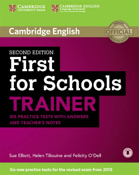 first for schools trainer 2nd edition cambridge university press spain
