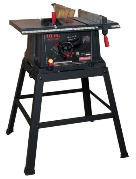 craftsman table saw review review craftsman 21802 10 in table saw with stand by