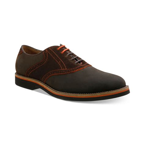 bass shoes g h bass co burlington plaintoe saddle shoes in brown
