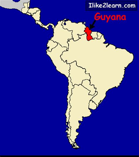 where is guyana on the world map guyana map