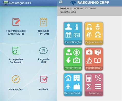 rendimentos 2015 para imposto renda aplicativo permite preencher a declara 231 227 o do ir 2015