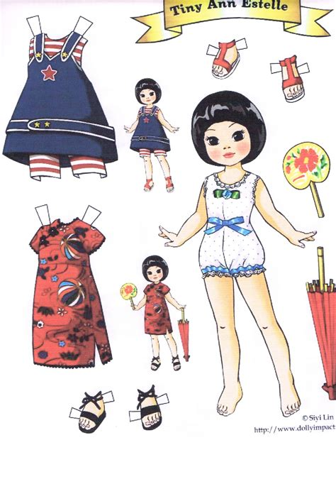 Dolls With Paper - tiny estelle a paper doll marges8 s