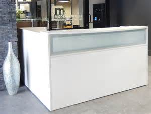 L Shaped Salon Reception Desk L Shaped White Reception Desk W Frosted Glass Panel