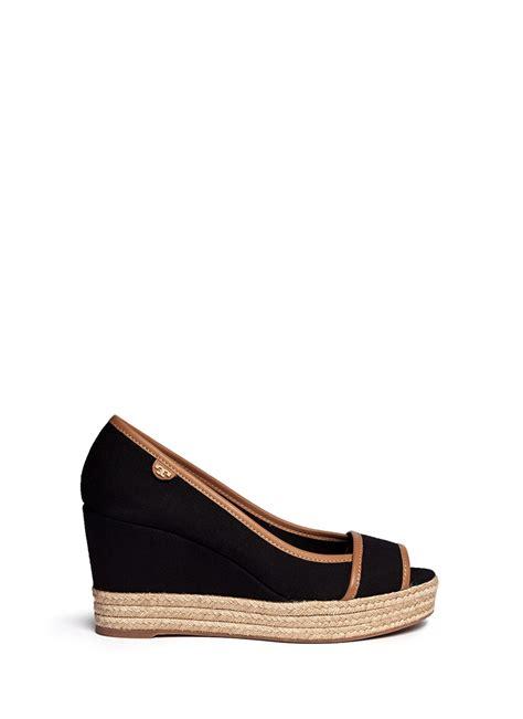burch sandals wedge burch majorca canvas espadrille wedge sandals in