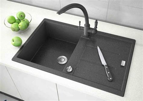 black kitchen sink faucets black kitchen sinks countertops and faucets 25 ideas adding black accents to modern kitchens