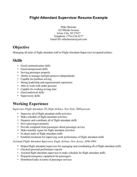 Flight Attendant Resume Template by Resume Flight Attendant Emirates Cabin Crew Cv Sle