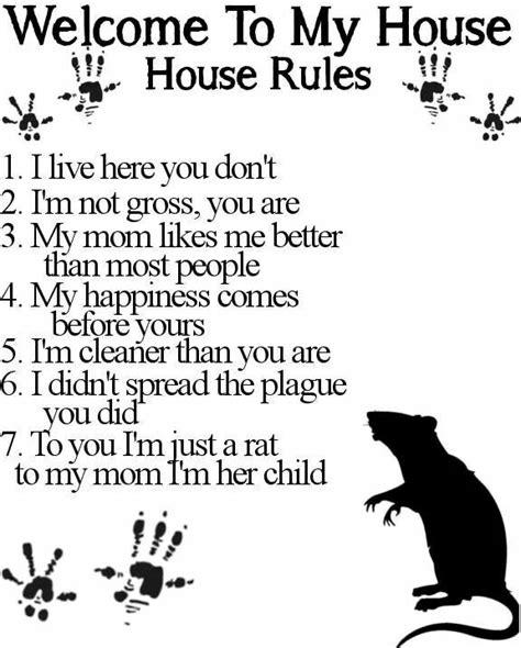 house rules chart ideas  pinterest house