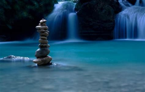 blue zen wallpaper balance of nature waterfalls nature background