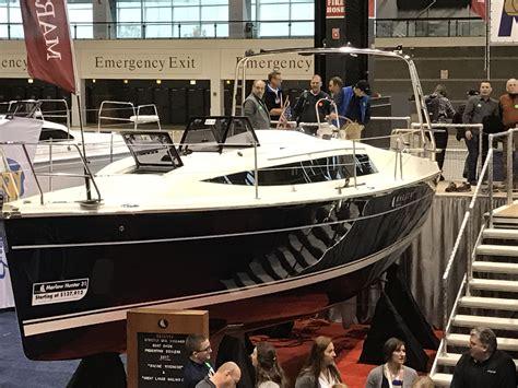 boat show 2017 halifax hunter 31 chicago boat show 2017 sailboats pinterest