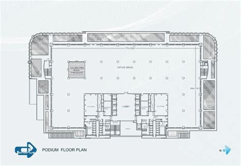 podium floor plan binarius a software technology park in pune india