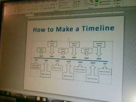 How To Make A Timeline In Powerpoint Part 1 Youtube How To Make A Timeline In Powerpoint 2010