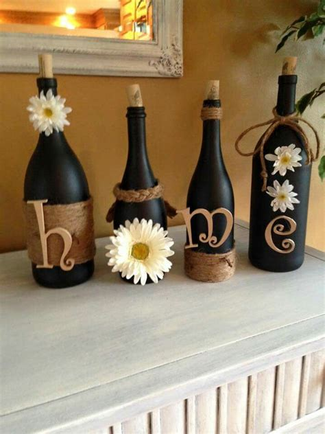 decorative crafts for home 25 best ideas about wine bottles on pinterest