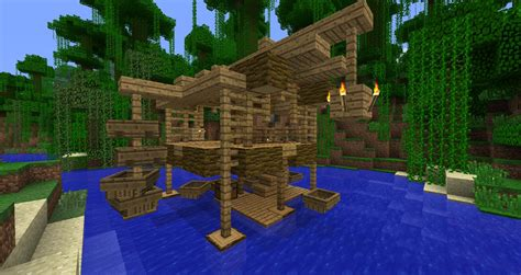 minecraft grian boat jungle house and boat dock screenshots show your