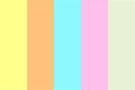 pastel paint color palette
