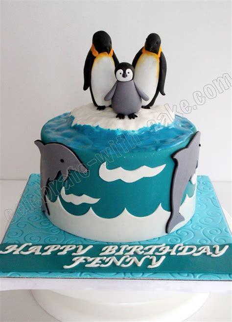 penguin cake whale birthday cake dolphin cakes penguin