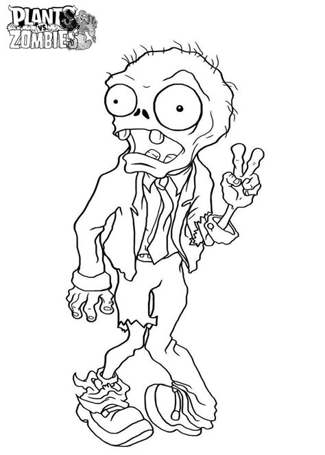 printable coloring pages zombies free printable plants vs zombies coloring pages for kids