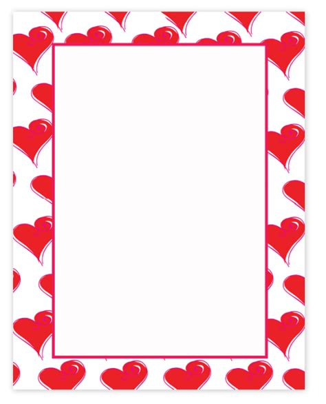 free printable valentine stationary borders search results for valentines paper borders calendar 2015