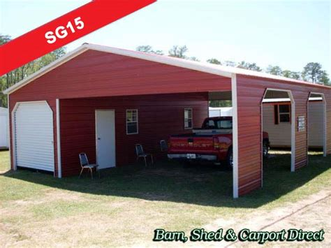 Carports And Storage Buildings All Products Barn Shed Carpot Direct Metal Carports