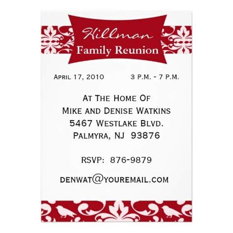 printable family reunion invitation cards 577 best invitations images on pinterest class reunion