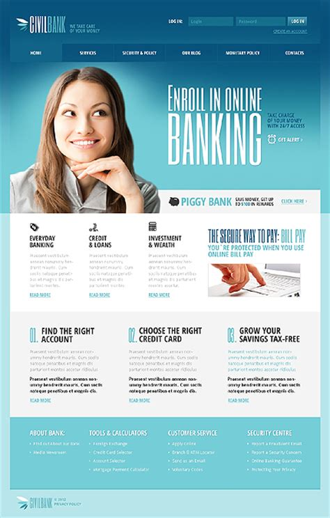 templates for banking website sixthlife 35 bank website templates