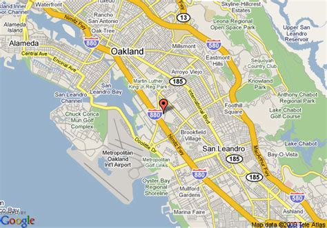 map of california oakland map of quality inn oakland oakland