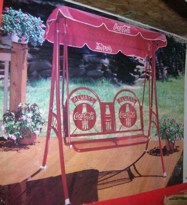 coca cola swingglider outdoor patio swing set canopy