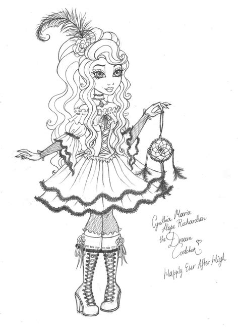 happily ever after high coloring pages cynthia happily ever after high by cindy brilliant on