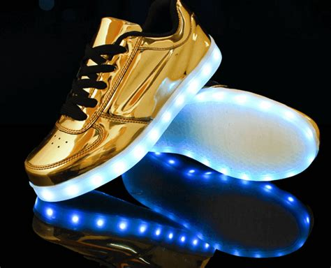 Led Shoes Kets Cewe 37 42 led sneakers silver or gold led sneakers