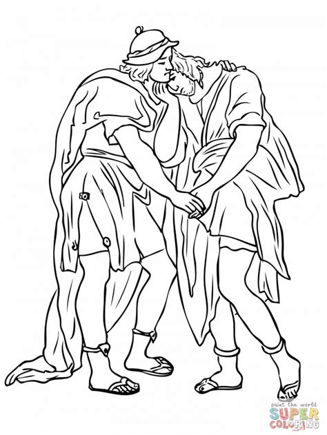 jonathan and david coloring pages az coloring pages