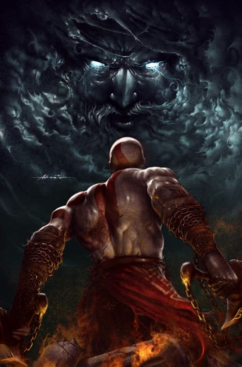 film god of war vs zeus kratos vs zeus