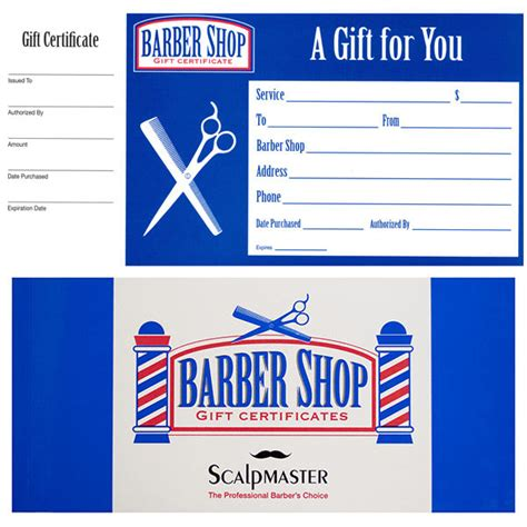 store gift certificate template barber shop gift certificates book book of 50 coupons ebay