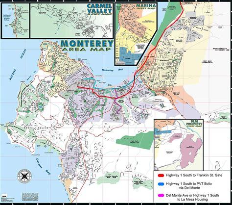 map monterey ca monterey area map monterey ca mappery monterey
